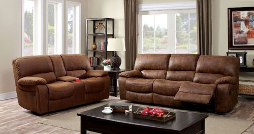 Facm6315 Sf Double Reclining Sofa And Lv Gliding Loveseat With Center Console