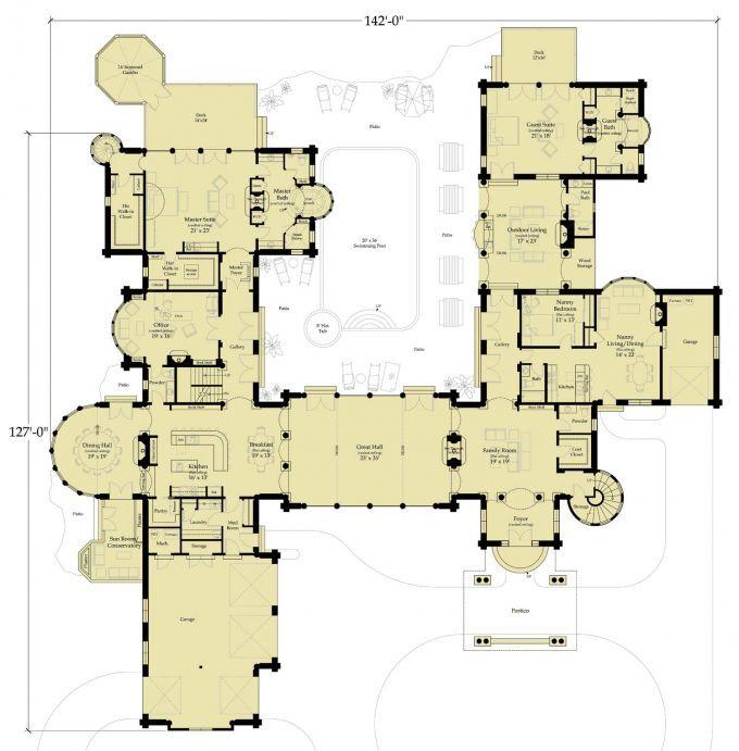 1000 ideas about castle house plans on pinterest custom for Castle plans build