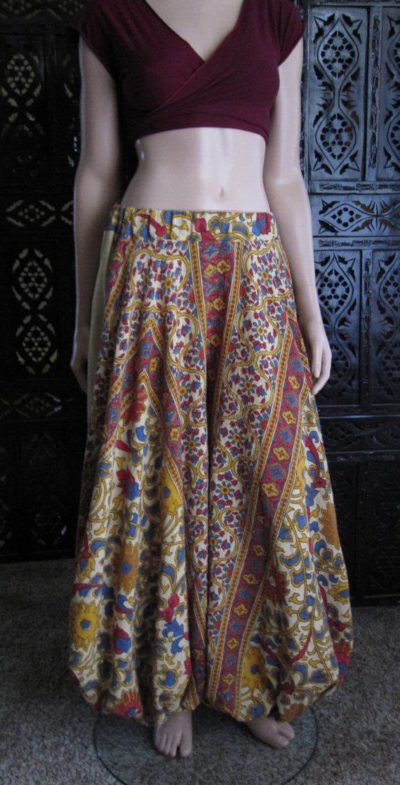 Yellow Sunflower Harem Pants
