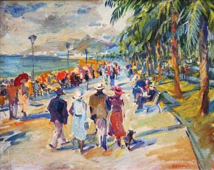 La Croisette à Cannes - Lucien Adrion 1930