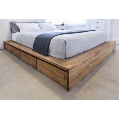 bed base only - add headboard of choice Mash Studios LAXseries Storage Panel Bed