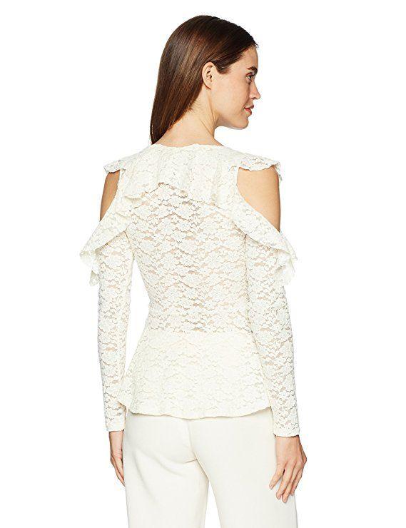 82ccd48c5e BCBGMAXAZRIA Women s Astril Cold-Shoulder Lace Top  Clothing