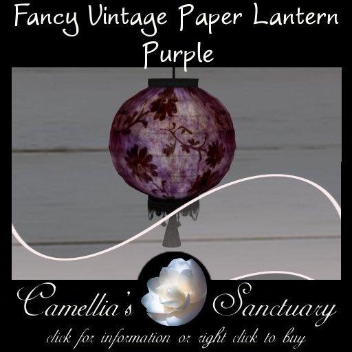 Fancy Vintage Paper Lantern (Purple)
