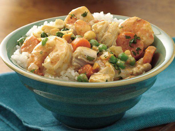 Slow Cooker Thai Chicken and ShrimpCooker Thai, Crock Pots, Slow Cooking, Thai Chicken, Slow Cooker, Crockpot Recipe, Favorite Recipe, Pots Meals, Shrimp Recipe Slow-Cook