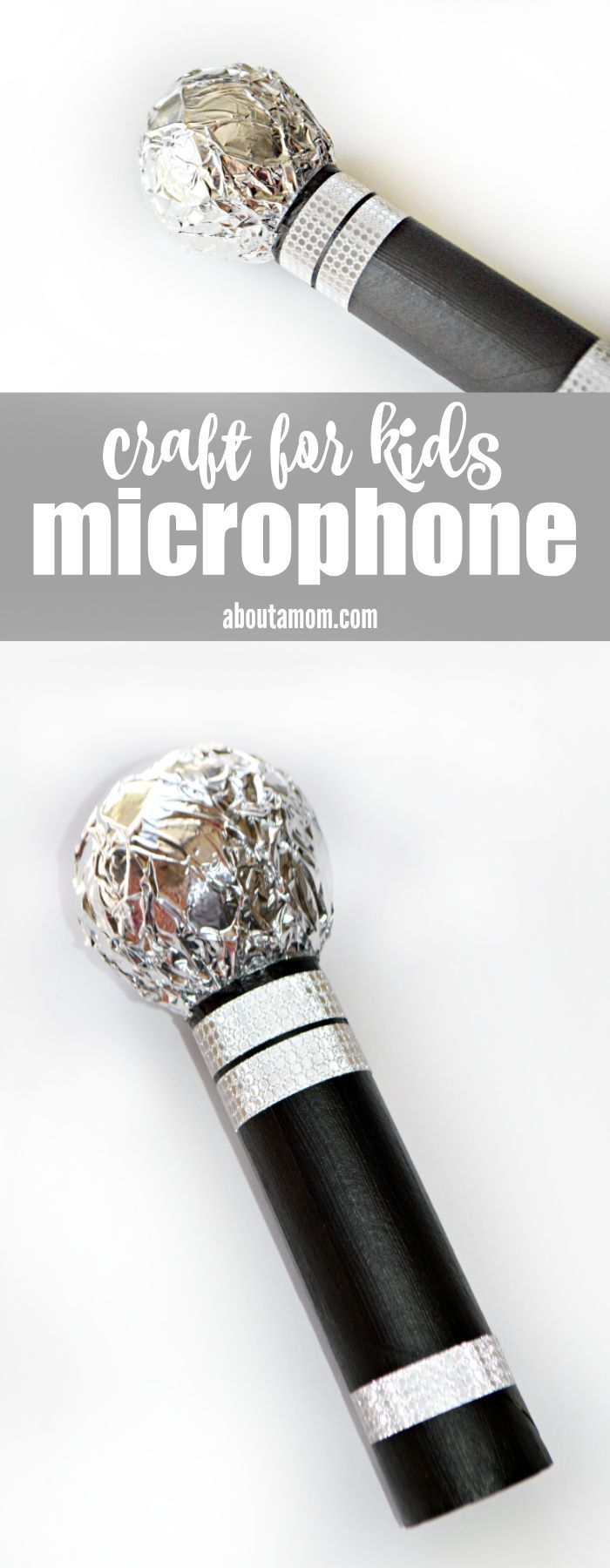 Fun microphone craft for kids.