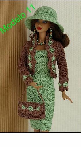 Boneca Barbie - Roupa De Crochê - R$ 25,00 no MercadoLivre