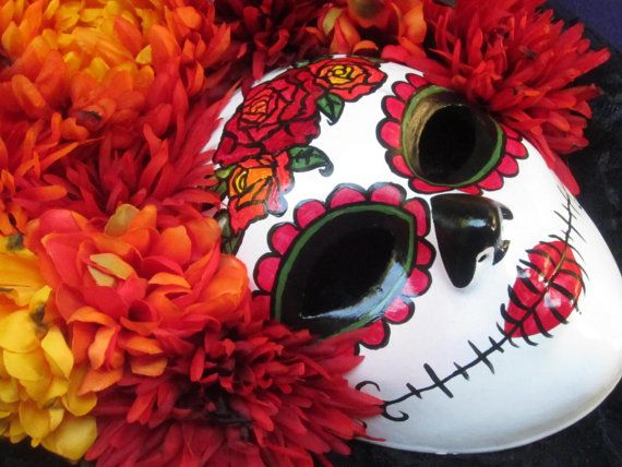 Puesta Del Sol  Day of the Dead Mask by effigymasks on Etsy, $190.00