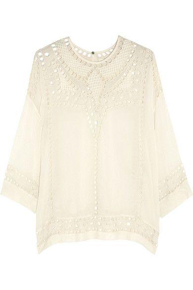 Isabel Marant, blouse, shirt, white, ivory, resort, embroidery, embroidered, eyelet, texture: Blouse, Shopping Whimsy, Shirt