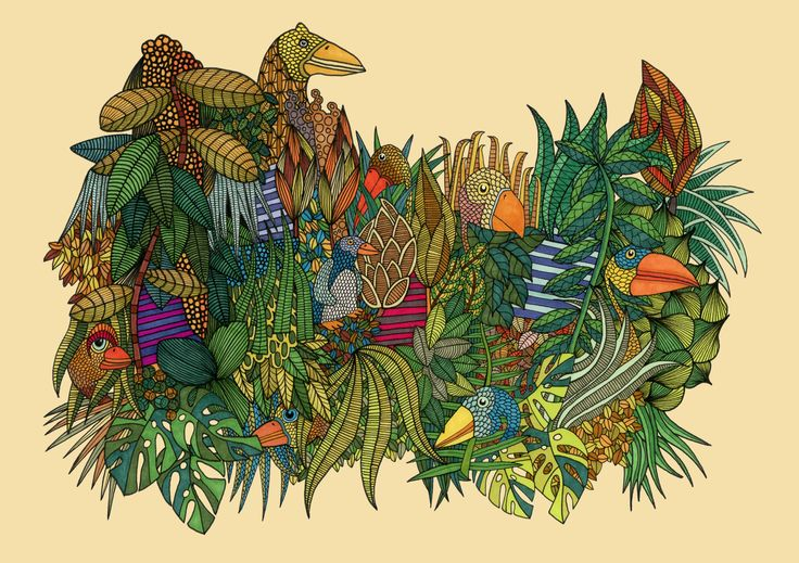 ~Djungle Cluster Illustration~  ©Humlan & Bapan Artwork www.humlanbapan.se