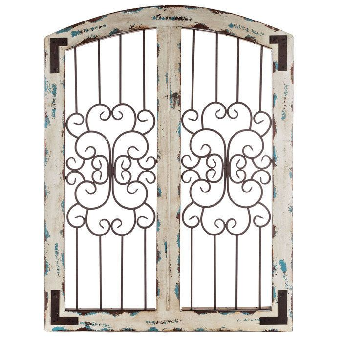 Shabby Chic Farmhouse Cream Wood Iron Scroll Wall Door Sculpture Decor Unbranded Country Wood Wall Decor Iron Wall Decor Wall Decor Online
