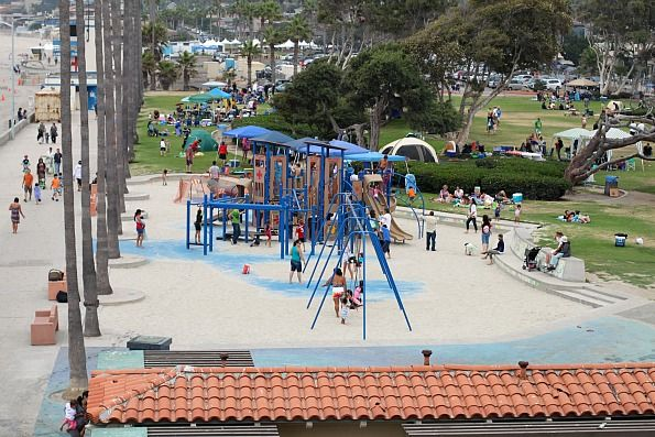 Kellogg Park adjacent to La Jolla Shores Beach is an awesome place for kids to play and the family to picnic.