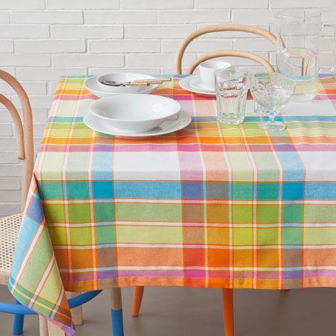 Multicoloured checked tablecloth - Tablecloths - Tableware   Zara Home United Kingdom