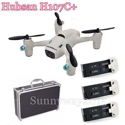 Price - $112.55. Hubsan X4 CAM Plus H107C+ 2.4G Quadcopter W/HD Cam+Extra 3 Battery+Carrying G1 ( Brand - Hubsan, Model - H107C+, MPN - Does not apply, Power Source - Electric, Scale - 1/16, Assembly Required? - Ready-to-Run, Country/Region of Manufacture - China, State of Assembly - Ready-to-Go, Fuel Source - Electric, Year - 2015, Gender - Boys & Girls, Type - Drone, UPC - 6922572410732    )