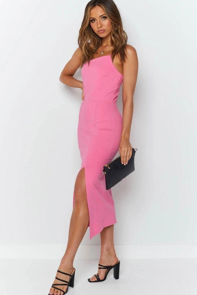 Cecilia Bodycon Dress Hot Pink 12 Hot Bodycon Dresses Dresses Bright Pink Midi Dress