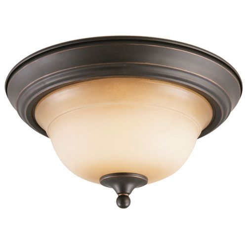 Cameron Oil Rubbed Bronze Two-Light Ceiling Mount