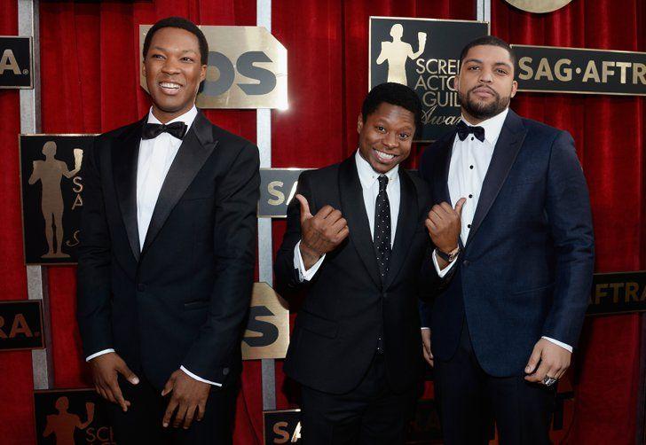 Pin for Later: Régalez Vous Avec les Photos des Acteurs Présents aux SAG Awards O'Shea Jackson Jr., Jason Mitchell, et Corey Hawkins