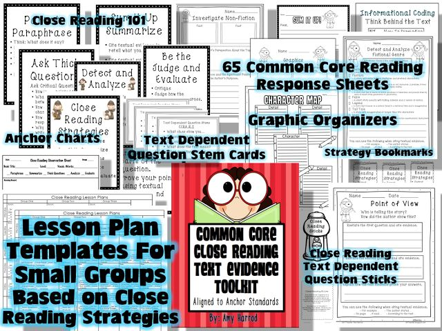 201 best images about common core galore on pinterest for Close reading planning template