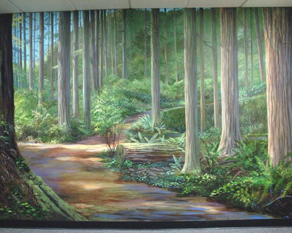 Hand Painted Natural Landscape Wall Murals Part 22