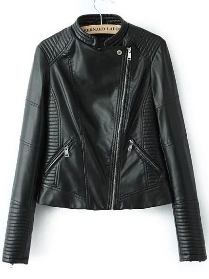 Shop Black Stand Collar Oblique Zipper Crop Jacket online. SheIn offers Black Stand Collar Oblique Zipper Crop Jacket & more to fit your fashionable needs.