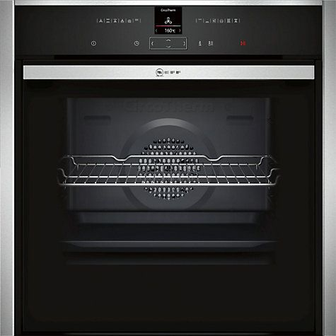Buy Neff B47CR32N0B EcoClean Single Electric Oven, Stainless Steel Online at johnlewis.com
