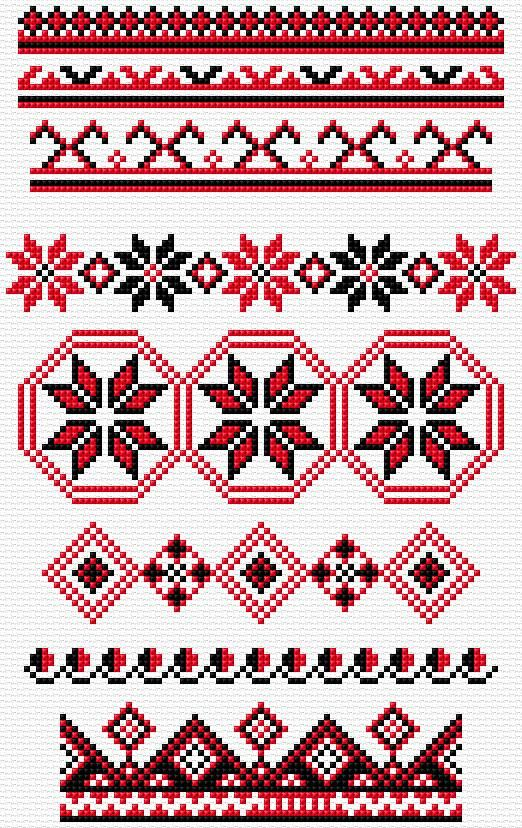 Cross Stitch | Ukrainian Borders xstitch Chart | Design