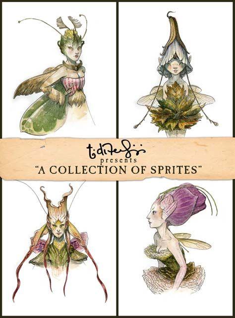 spiderwick sprites - Tony Diterlizzi