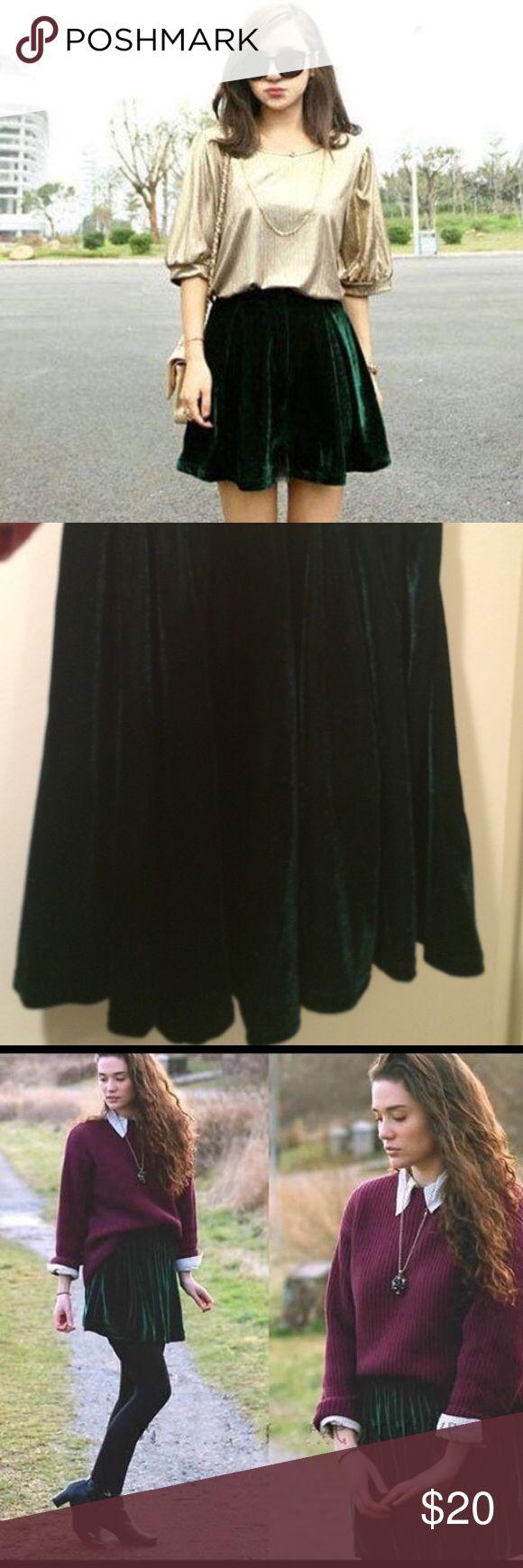 Velvet skater skirt Adorable velvet skater skirt, only worn a few times. Like new condition. Urban Outfitters Skirts Mini
