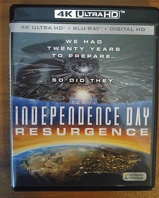 Independence Day: Resurgence (4K Ultra HD and Blu-ray) Bill Pullman - No Digital