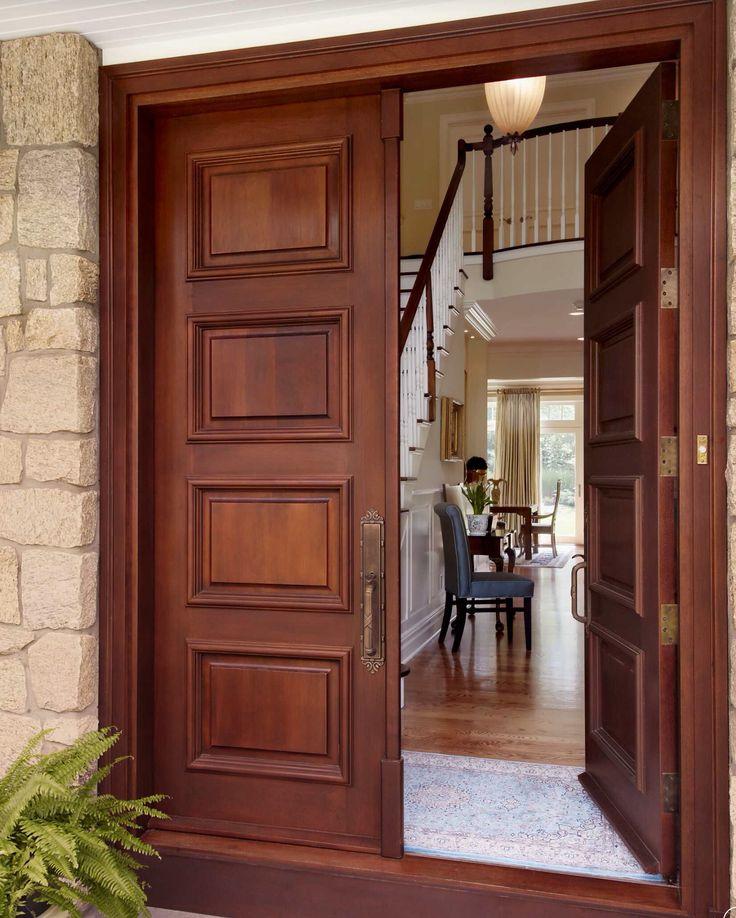 wood door double entry doorssolid