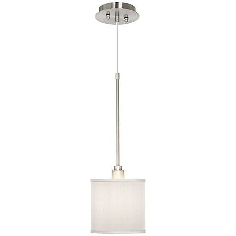 CreamTextured Silk Mini Pendant Light - #T6312-X7027 | Lamps Plus