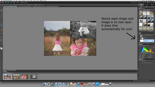 how to create collage templates in photoshop elements