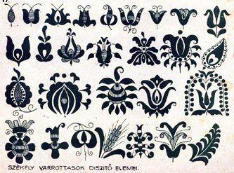 Hungarian motifs-PDF file to download or print  www.pysankybasics.com
