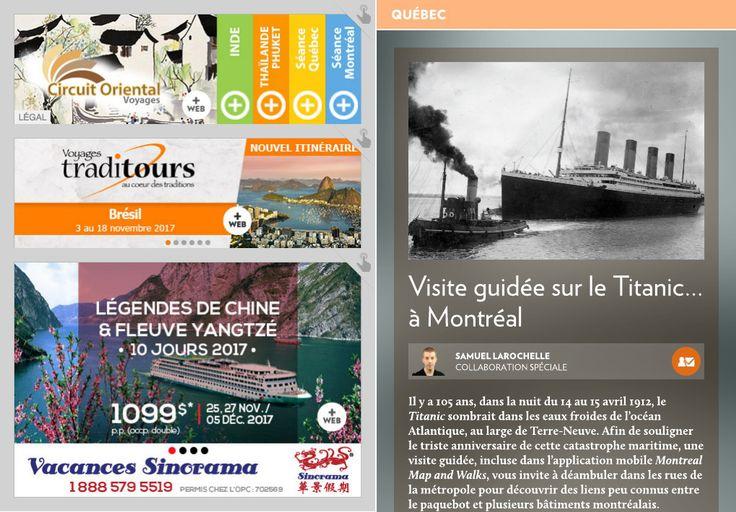 Visite guidée sur le «Titanic»… à Montréal - La Presse+