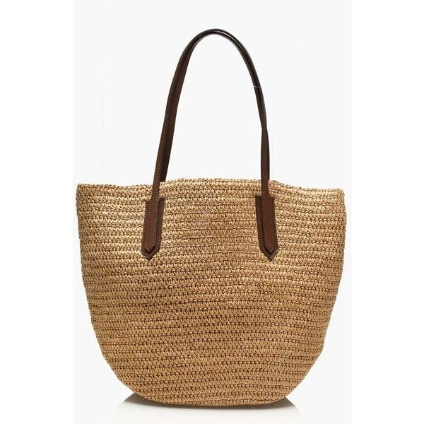 J.Crew Straw market tote ($50) ❤ liked on Polyvore featuring bags, handbags, tote bags, white purse, white tote bag, straw tote, accessories handbags and purse