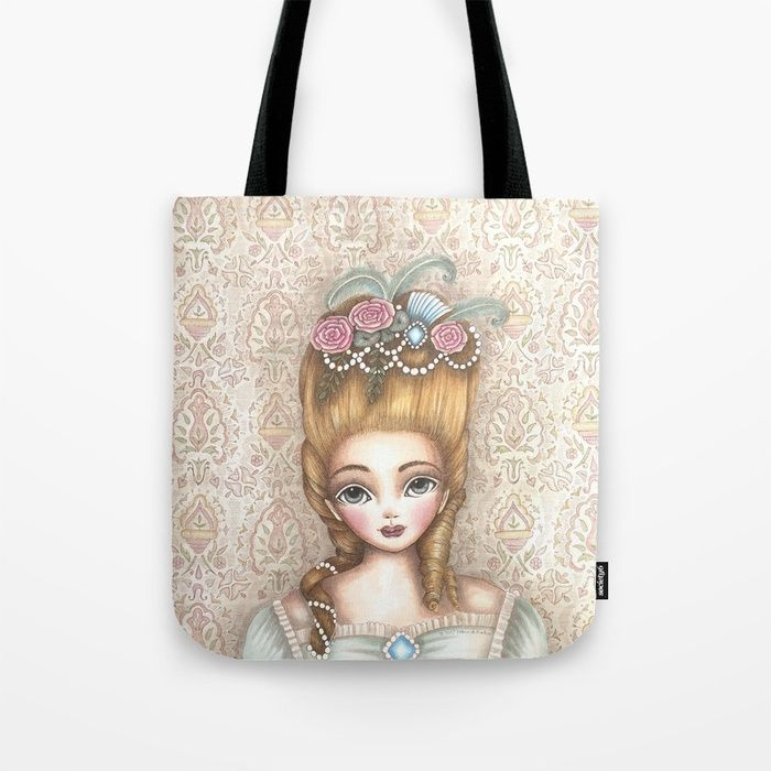 Buy Marie Antoinette Tote Bag by mookoodesign. Worldwide shipping available at Society6.com. Just one of millions of high quality products available.