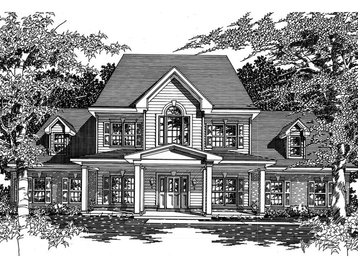 Islington Southern Country Home  from houseplansandmore.com