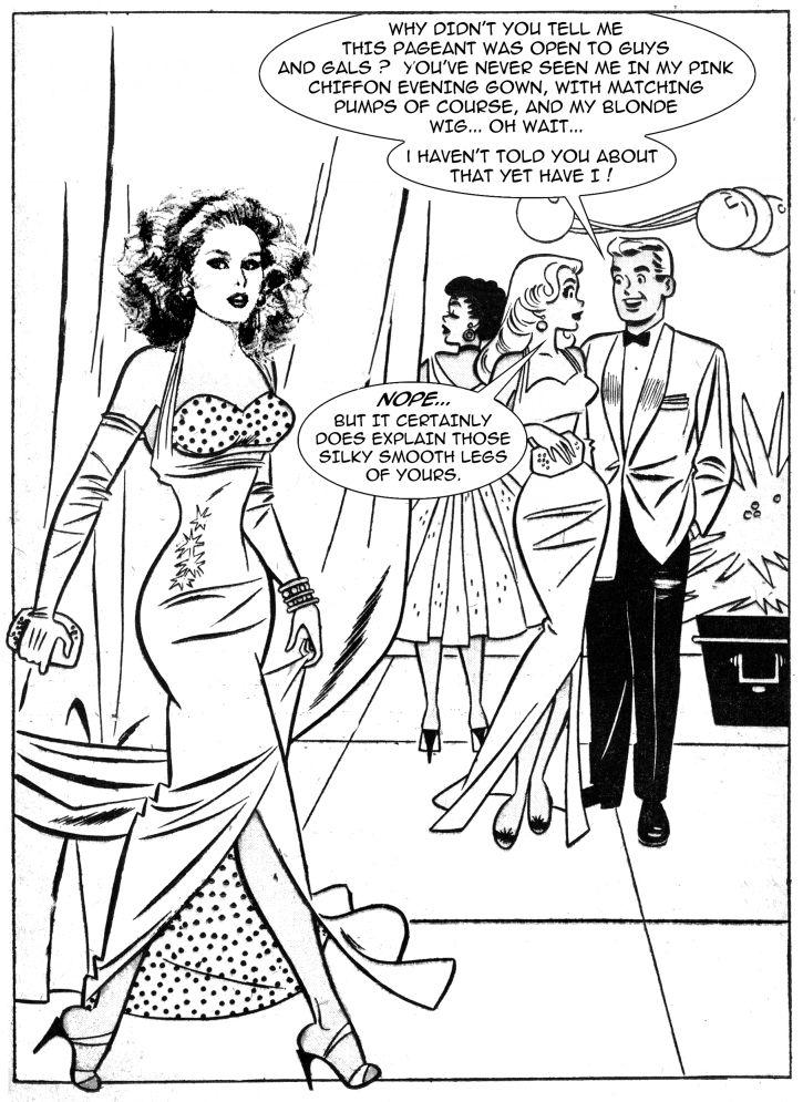Comic crossdresser Digital Transgender
