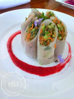Gluten Free in Bali: Rice Paper Rolls for Lunch at the CasCades Restaurant, Viceroy Bali - Ubud Bali