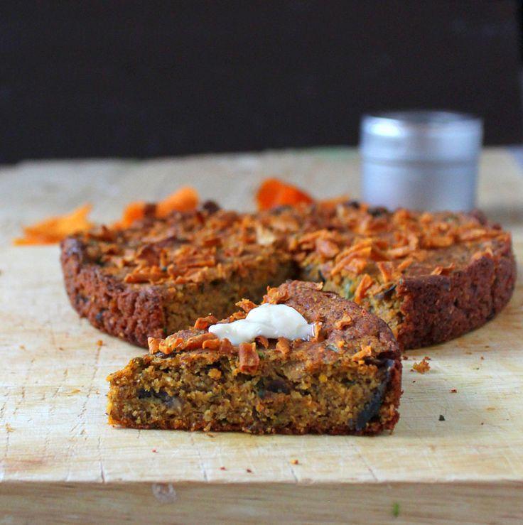 Gluten free Sweet Potato Cornbread with Mushrooms and Kale. vegan recipe - Vegan Richa