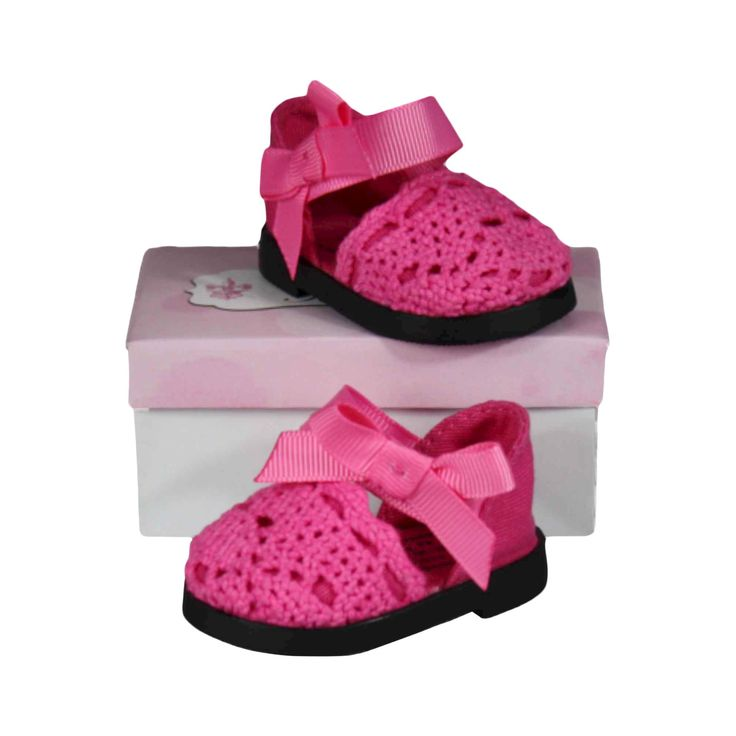The Queen's Treasures 18 Inch Doll Clothes Accessory, Pink Espadrille Sandal Plus Authentic Shoe Box