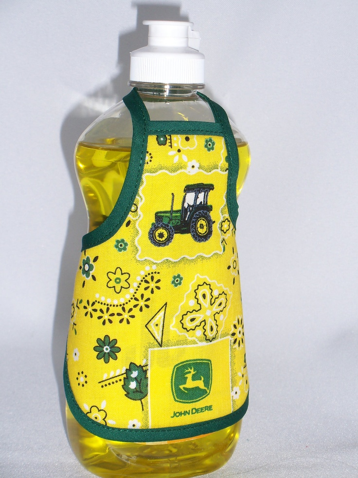 John Deere Dish Soap Bottle Apron Cover Staffer Sm by beeluckylady