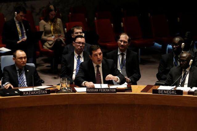 Rusia-China gagalkan sanksi untuk Assad  Wakil Duta Besar Rusia untuk PBB (Reuters)  Rusia pada voting Selasa menggunakan hak tolak atau veto untuk melindungi pemerintah Suriah dari resolusi Dewan Keamanan PBB. China juga mendukung Rusia dalam memberikan hak veto itu. Sebelumnya Inggris Perancis dan AS mengajukan sanksi kepada pejabat rezim Suriah atas tuduhan serangan senjata kimia dalam perang. Tuduhan didasarkan laporan OPCW (organisasi anti senjata kimia) dari hasil investigasi…