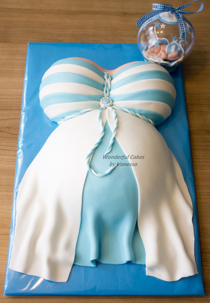 A Pregnant Belly Cake With A Baby In Bulb For A Babyshower The Bulb Is Nice To Give As A Present As A Memory Also Also Made Matching Cupca