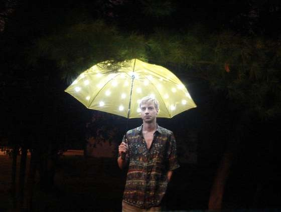 Electric Umbrella: Add LEDs and a dimmer switch to your umbrella and carry the sun and moon with you. (I wish I was good at soldering.)