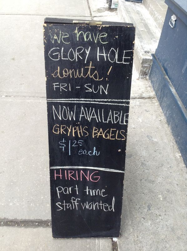Glory Hole donuts: only on a weekend in the gay village