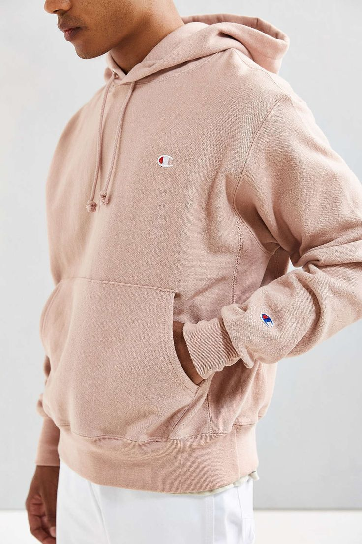 Champion x Urban Outfitters UO Reverse Weave Rose Pink Hoodie Pullover Mens M