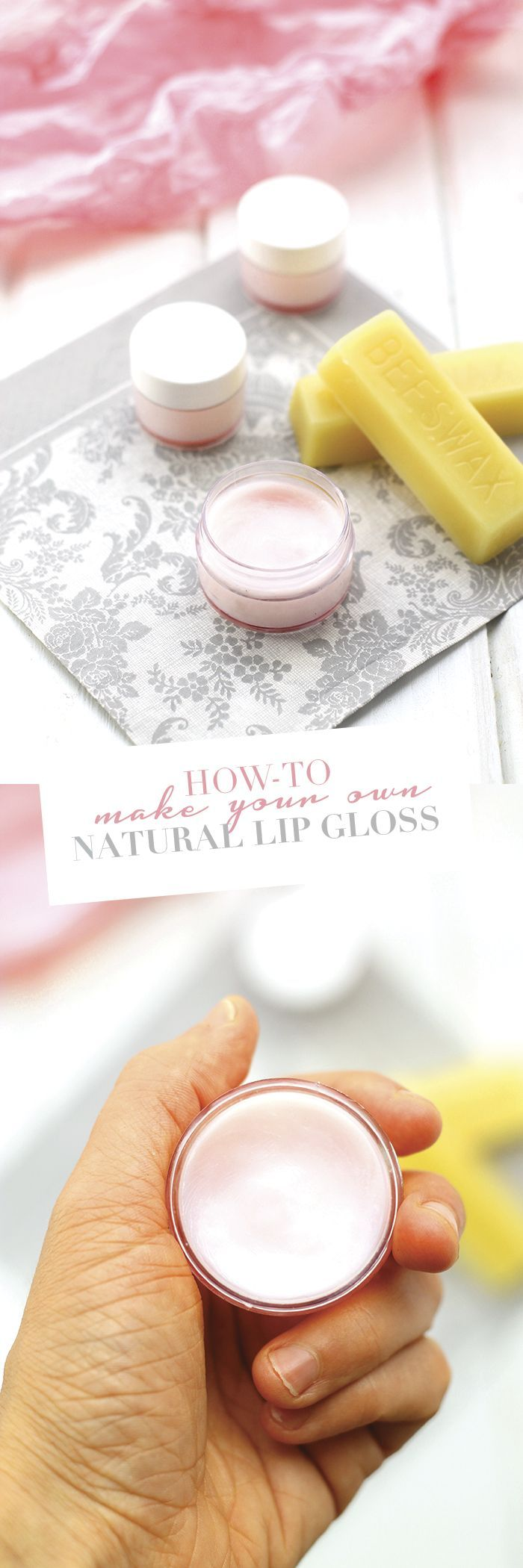 With just 4 simple ingredients, you can have homemade natural lip gloss in just a few minutes. Ditch the chemical-laden versions and learn how to make your own natural lip gloss!