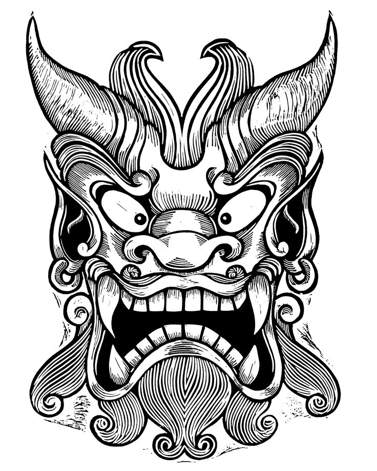 Japanese Onigawara Mask