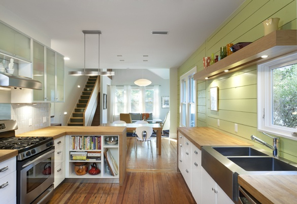 new kitchen in a 1940 Austin bungalow; IKEA cabinets u0026 countertops ...