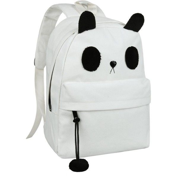 Cute Canvas Casual Style Panda Backpack/ Shoulder/ Book Bag (Model... (231.805 IDR) ❤ liked on Polyvore